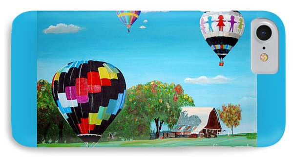 Iowa Balloons IPhone Case by Phyllis Kaltenbach