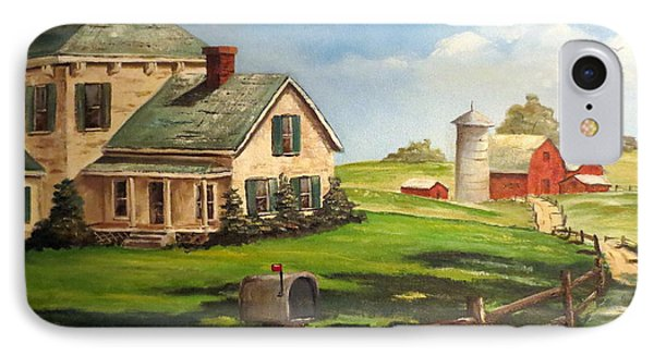 Iowa Farm IPhone Case by Lee Piper