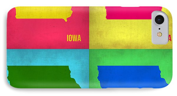 Iowa Pop Art Map 1 IPhone Case