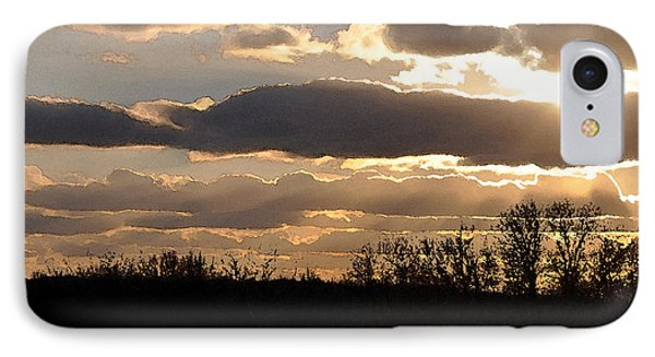 IPhone Case featuring the digital art Iowa Sunset by Kirt Tisdale