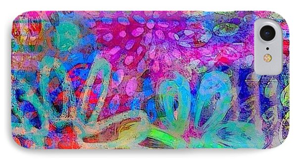 #ipadart #colorful #digitalart #rainbow IPhone Case by Robin Mead