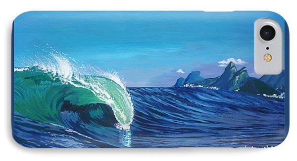 Ipanema Beach Phone Case by Chikako Hashimoto Lichnowsky