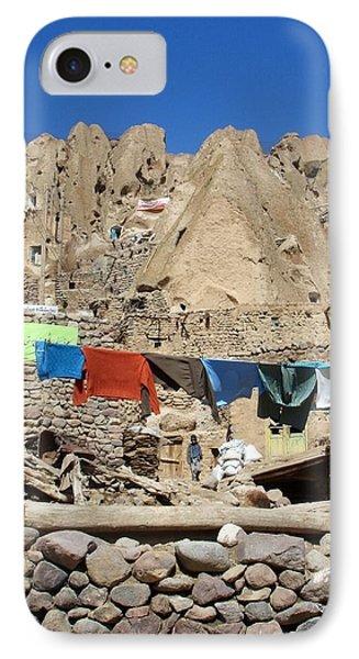 Iran Kandovan Stone Village Laundry Phone Case by Lois Ivancin Tavaf