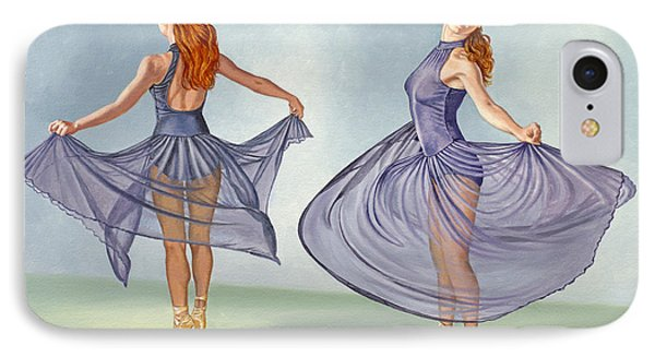 Irina Dancing In Sheer Skirt IPhone Case by Paul Krapf