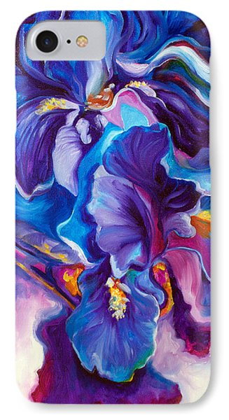 Iris Abstract The Shadow Of Your Smile IPhone Case by Marcia Baldwin