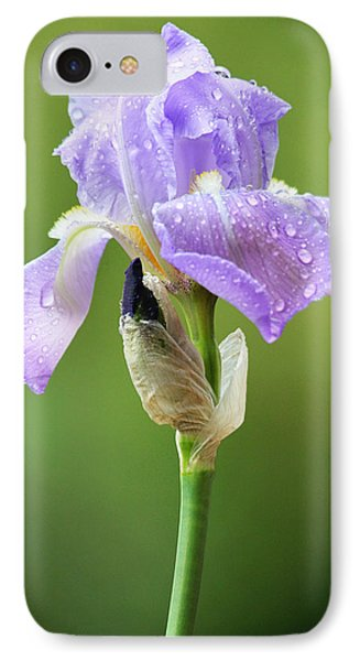 IPhone Case featuring the photograph Iris After The Rain by Trina  Ansel