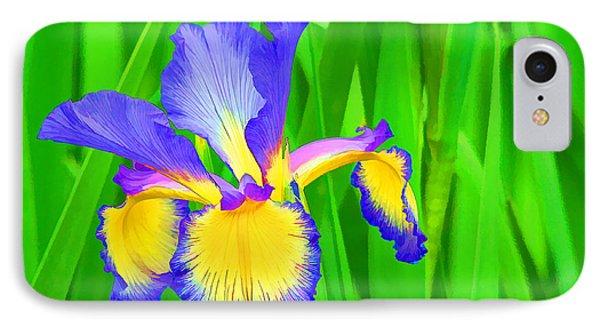 Iris Blossom IPhone Case by Teresa Zieba