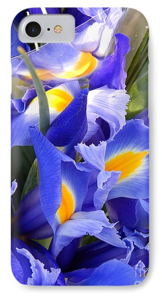Iris Blues In New Orleans Louisiana IPhone Case by Michael Hoard