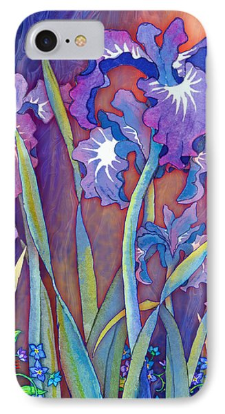 IPhone Case featuring the mixed media Iris Bouquet by Teresa Ascone