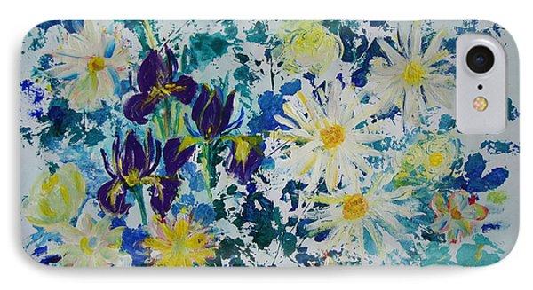 Iris Bouquet IPhone Case by Veronica Rickard