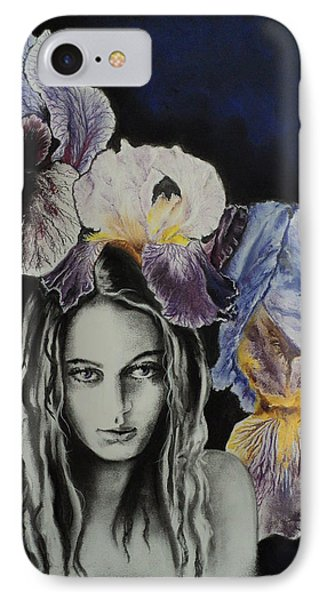 IPhone Case featuring the drawing Iris by Carla Carson