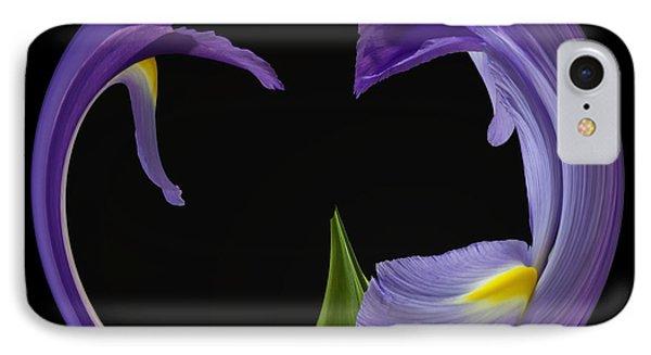 Iris Circled IPhone Case by Cyndy Doty