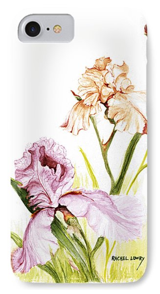 Iris Duo IPhone Case by Rachel Lowry
