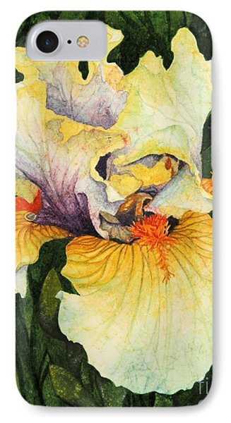 IPhone Case featuring the painting Iris Elegance by Barbara Jewell