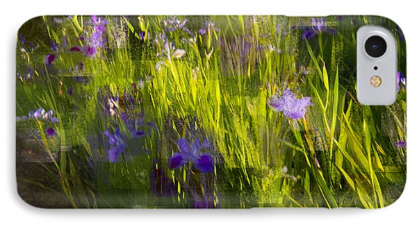 IPhone Case featuring the photograph Iris Garden  by Linde Townsend