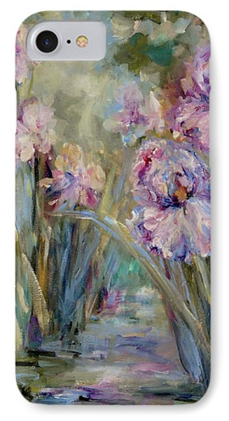 IPhone Case featuring the painting Iris Garden by Mary Wolf