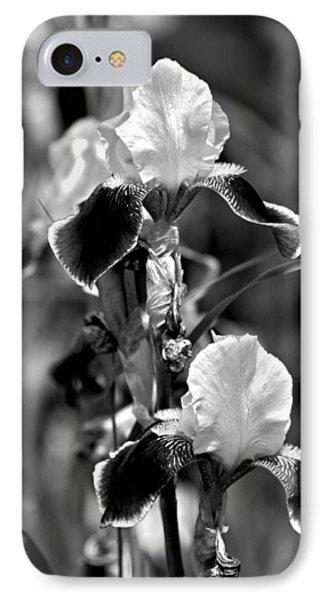 Iris In Black And White Phone Case by Karon Melillo DeVega
