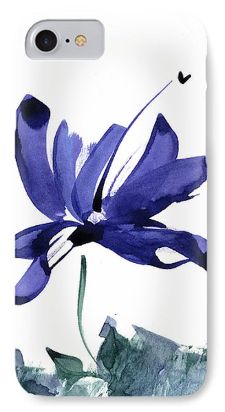 IPhone Case featuring the painting Iris In The Greenery Watercolor by Frank Bright