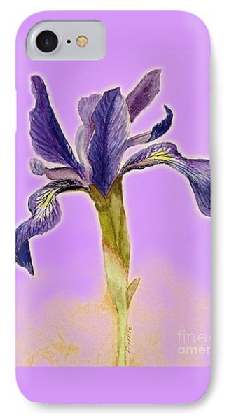 Iris On Lilac IPhone Case