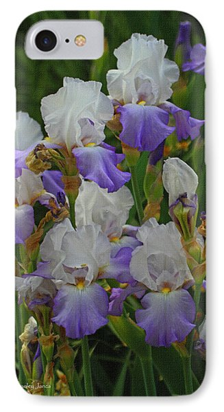 Iris Patch At The Arboretum IPhone Case by Tom Janca