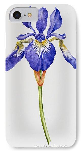 Iris IPhone Case by Sally Crosthwaite