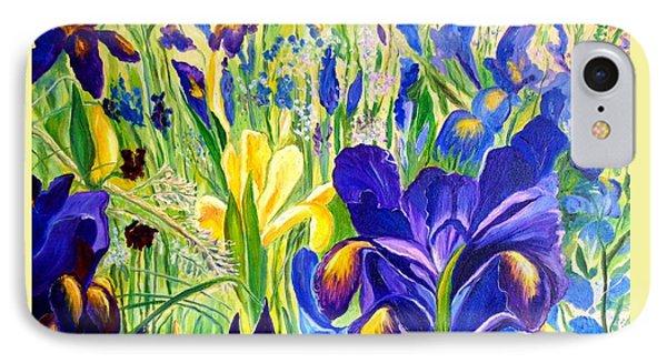 Iris Spring IPhone Case by Julie Brugh Riffey