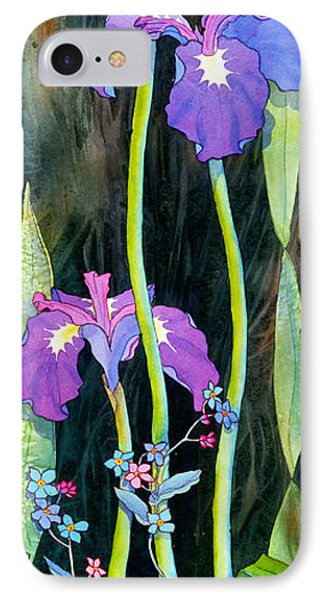 IPhone Case featuring the painting Iris Tall And Slim by Teresa Ascone