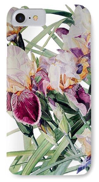 Iris Vivaldi Spring IPhone Case by Greta Corens