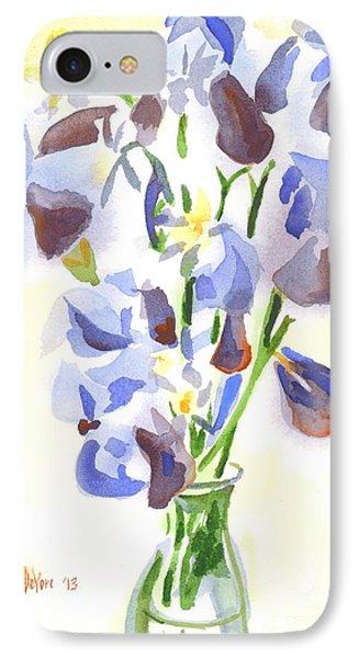Irises Aglow Phone Case by Kip DeVore
