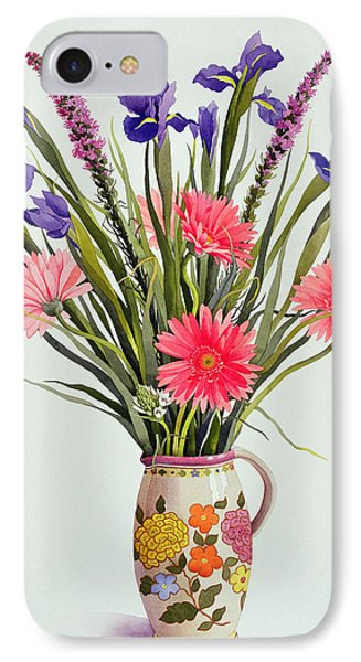 Irises And Berbera In A Dutch Jug Phone Case by Christopher Ryland