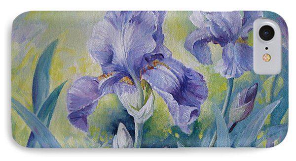 Irises IPhone Case by Elena Oleniuc