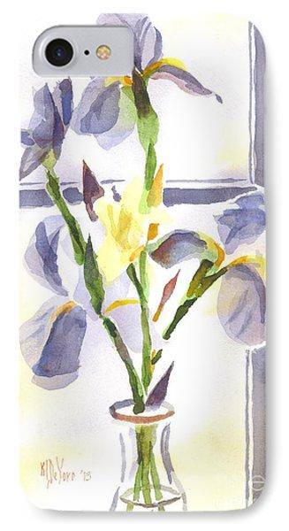Irises In The Window II Phone Case by Kip DeVore