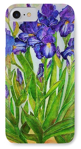 Irises IPhone Case by Janet Immordino
