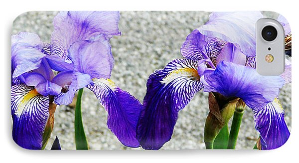 IPhone Case featuring the photograph Irises by Jasna Dragun