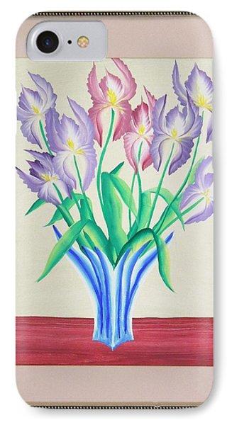Irises IPhone Case by Ron Davidson