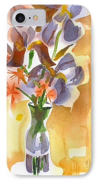 Irises With Stars Of Bethlehem Phone Case by Kip DeVore