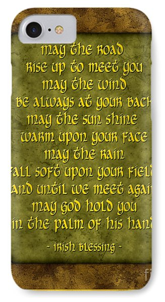Irish Blessing IPhone Case by Ginny Gaura