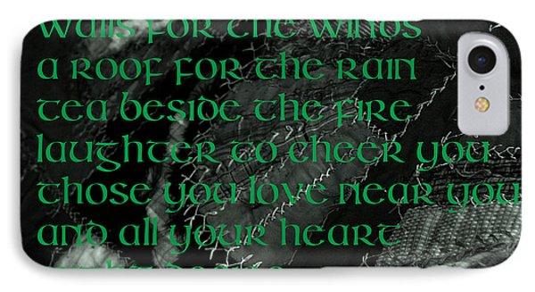 Irish Blessing Stitched In Time IPhone Case