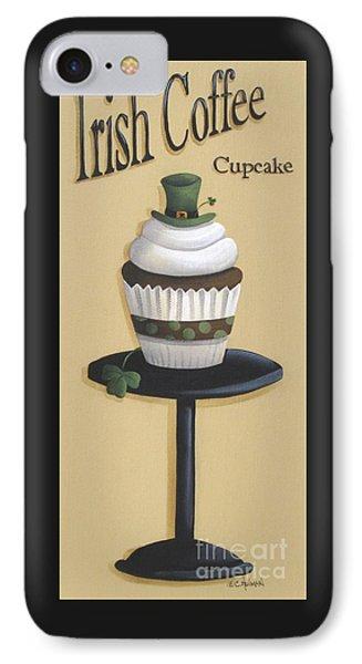 Irish Coffee Cupcake Phone Case by Catherine Holman