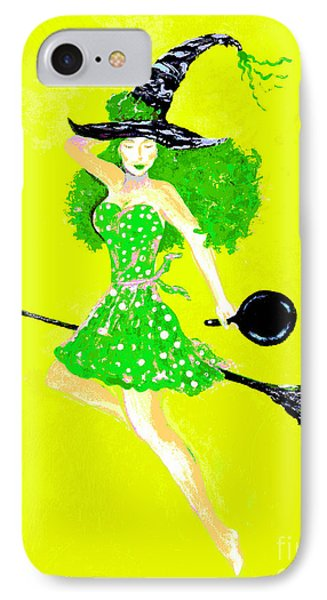 Irish Kitchen Witch Phone Case by Alys Caviness-Gober