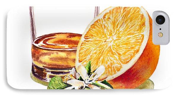 IPhone Case featuring the painting Irish Whiskey And Orange by Irina Sztukowski
