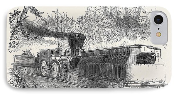 Iron Car Battery On The Philadelphia Railway 1861 Railroad IPhone Case
