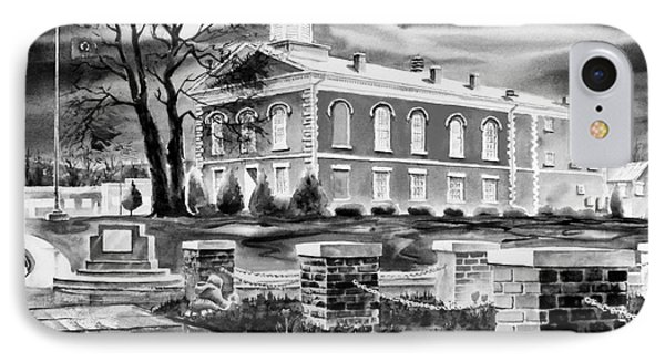 Iron County Courthouse IIi - Bw Phone Case by Kip DeVore