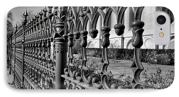 IPhone Case featuring the photograph Iron Fence Detail by Kate Purdy