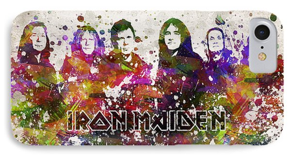 Iron Maiden In Color IPhone Case by Aged Pixel