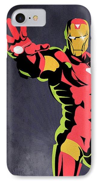 Iron Man  IPhone Case by Mark Ashkenazi