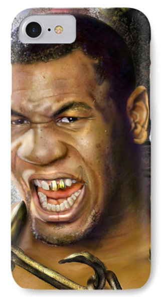 Iron Mike Tyson-no Blood No Glory 1a Phone Case by Reggie Duffie