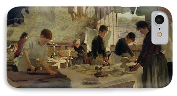 Ironing Workshop In Trouville Phone Case by Louis Joseph Anthonissen