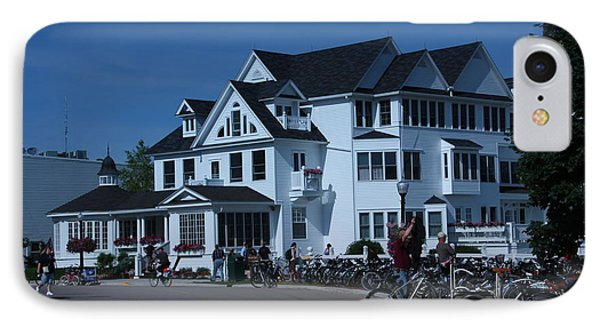 IPhone Case featuring the photograph Iroquois Hotel Mackinaw Island by Bill Woodstock