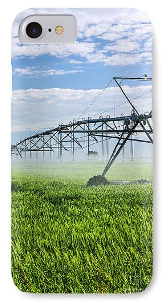 Irrigation Equipment On Farm Field Phone Case by Elena Elisseeva